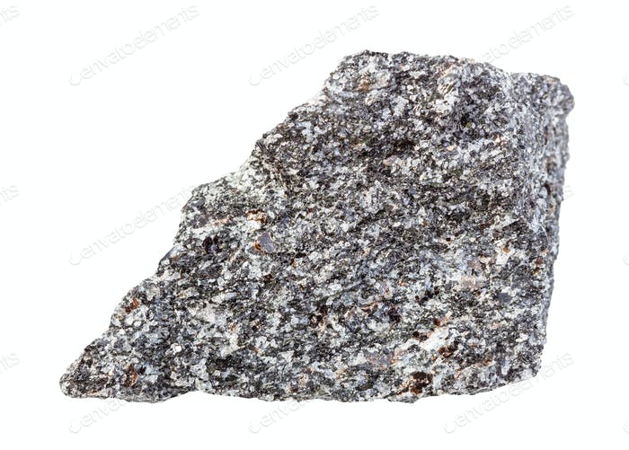 unpolished Nepheline syenite rock isolated