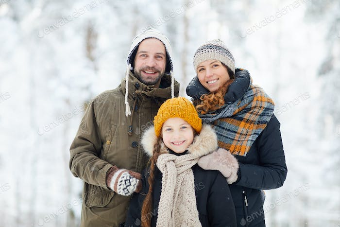 Happy Family in Winter