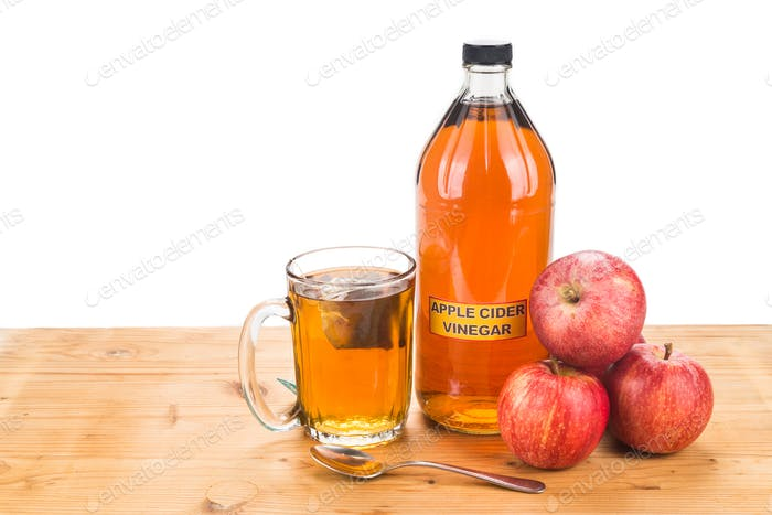 Apple cider vinegar with brewed tea, natural remedies and cures
