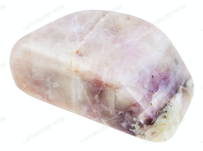 pebble of Cancrinite stone isolated
