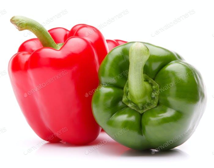 Paprika isoliert auf weißem Hintergrund Ausschnitt
