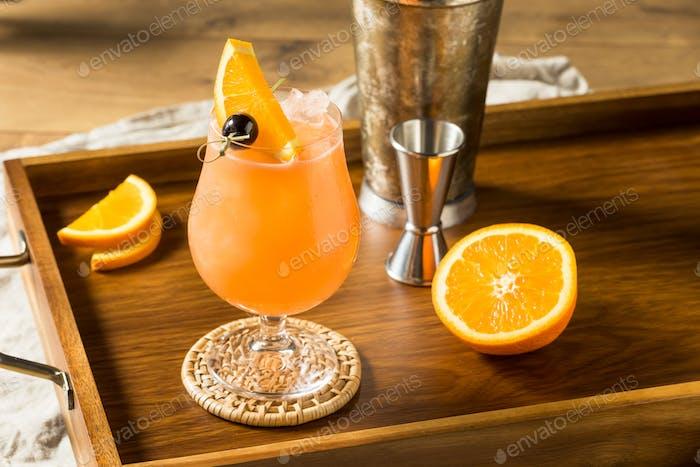 Boozy Refreshing Hurricane Cocktail