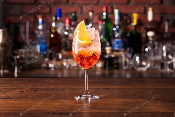 Alcoholic Aperol Spritz Cocktail