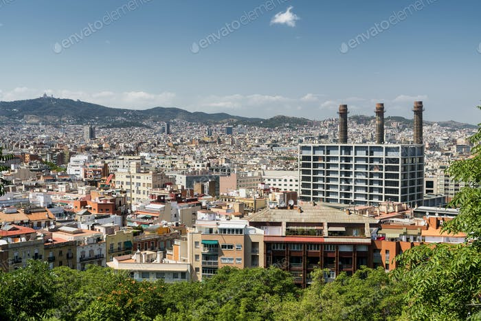 Barcelona (Spain): view from Montjuic