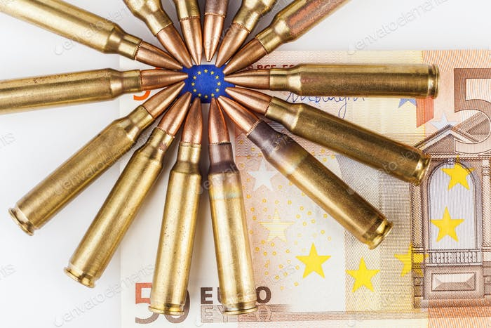 Umgebene Euro-Flagge