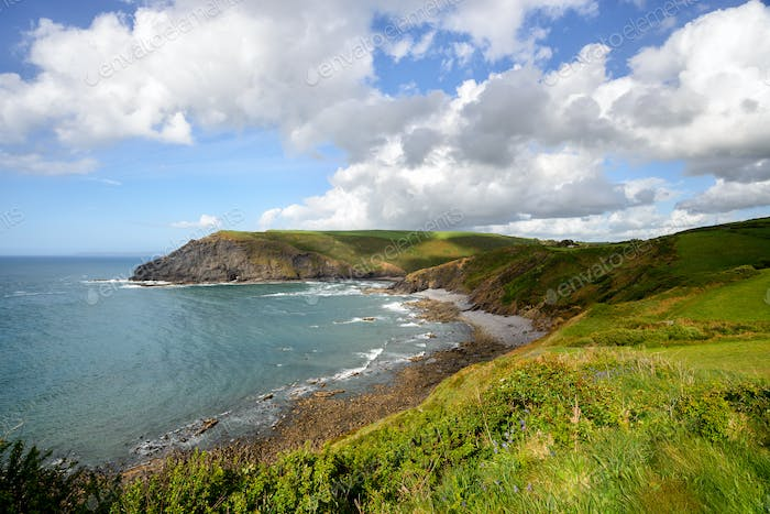 Crackington Haven on the North Coast of Cornwall