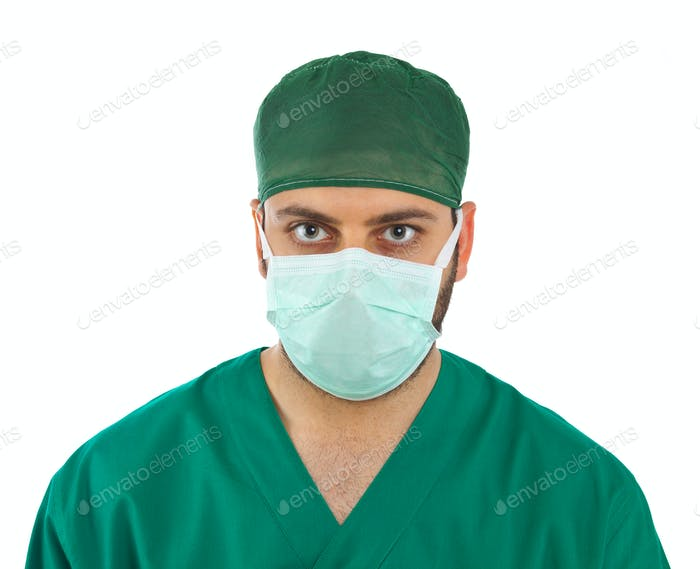 Handsome young surgeon