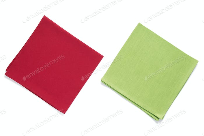 table cloth napkin at white background