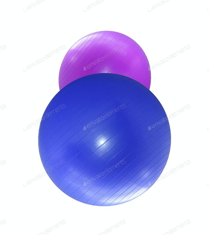 Fitballs isoliert