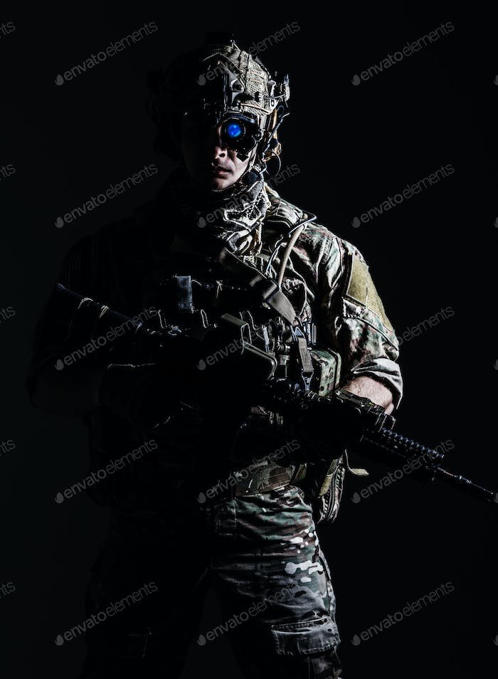 US Army Ranger close-up