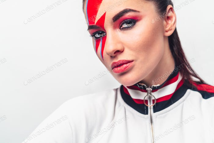 Portrait of a beautiful girl with make-up