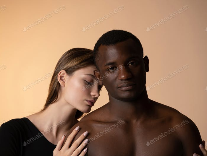 Multiethnic people in relationship at studio