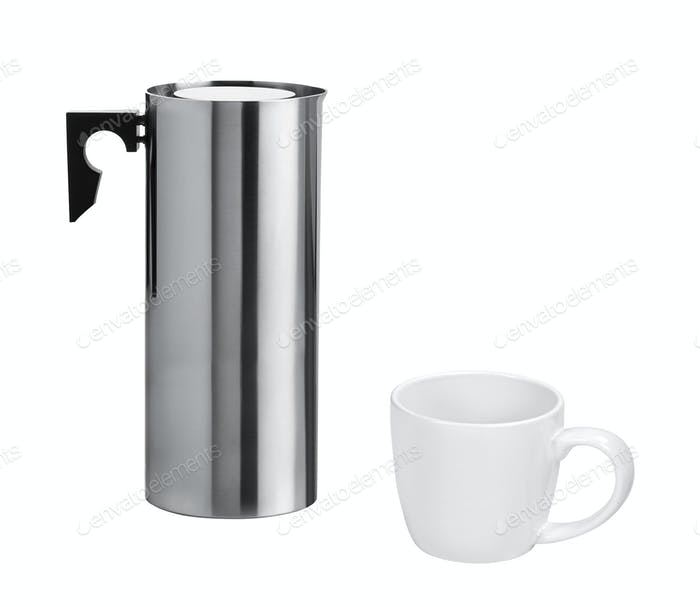 stainless electric kettle isolated