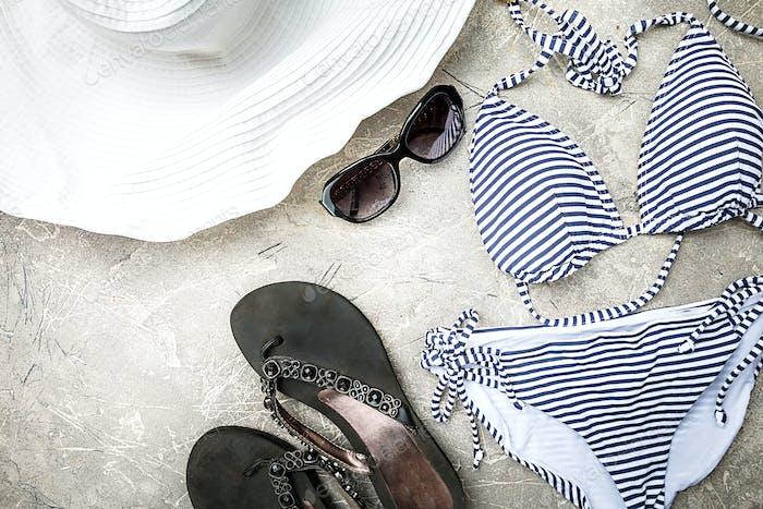 Female summer swimsuit set