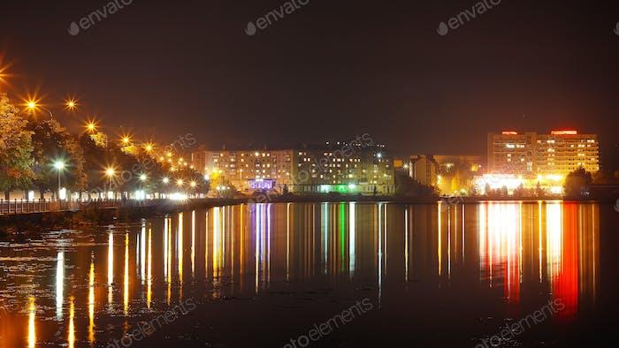 Panorama luces de la Ciudad Noche
