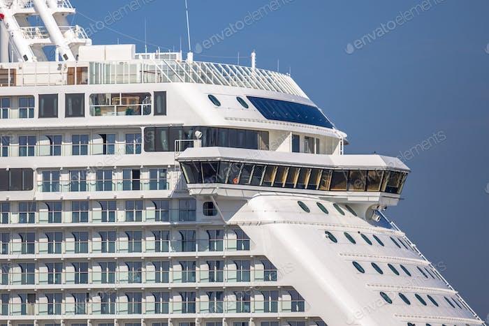 Detail of cruise ship