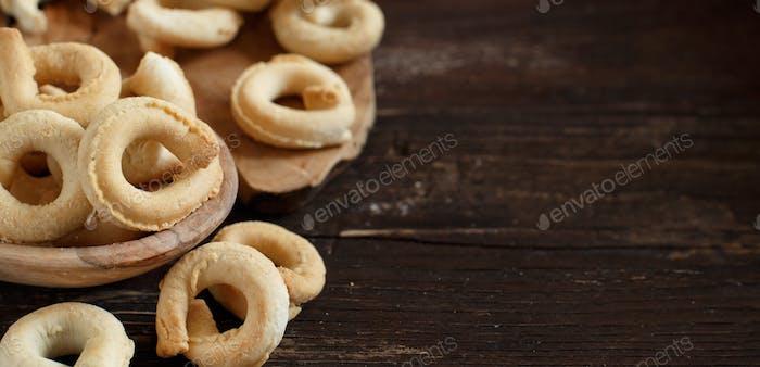 Taralli Traditioneller italienischer Snack aus Apulien