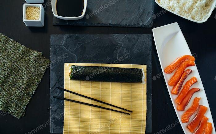 Finished Sushi Rolled