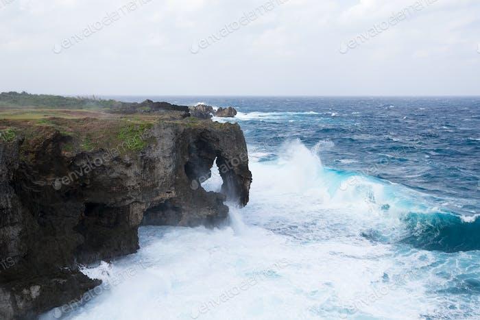 Manzamo Cape in Okinawa