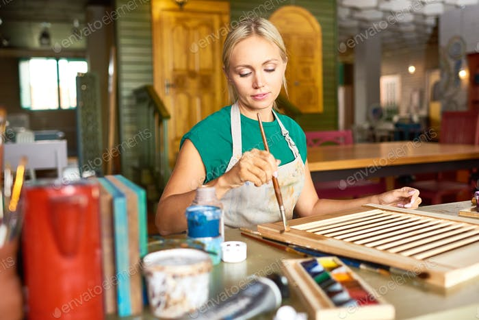 Young Woman Enjoying Crafting