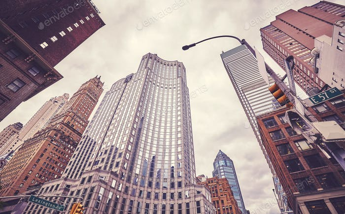 Skyscrapers at Lexington Avenue, New York City, USA.