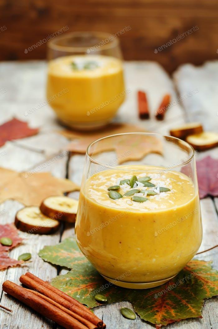 Pumpkin Banana smoothies