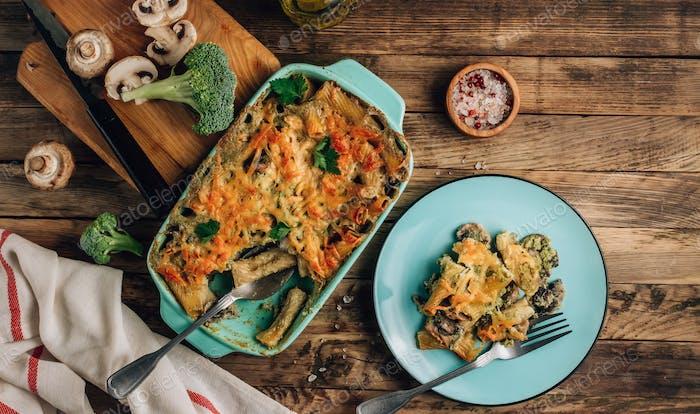 Homemade vegetarian casserole