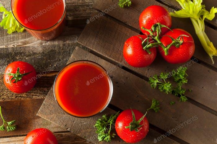 Raw Organic Tomato Juice