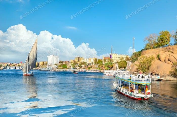 Stadtbild von Assuan