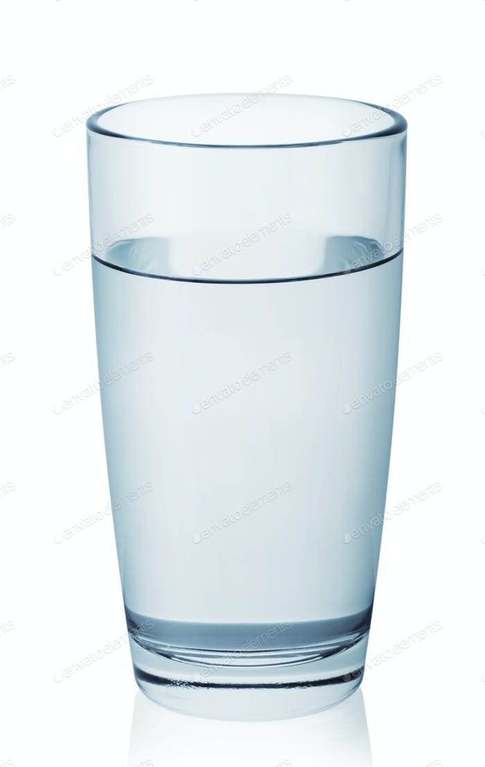 Glass of clean clear water