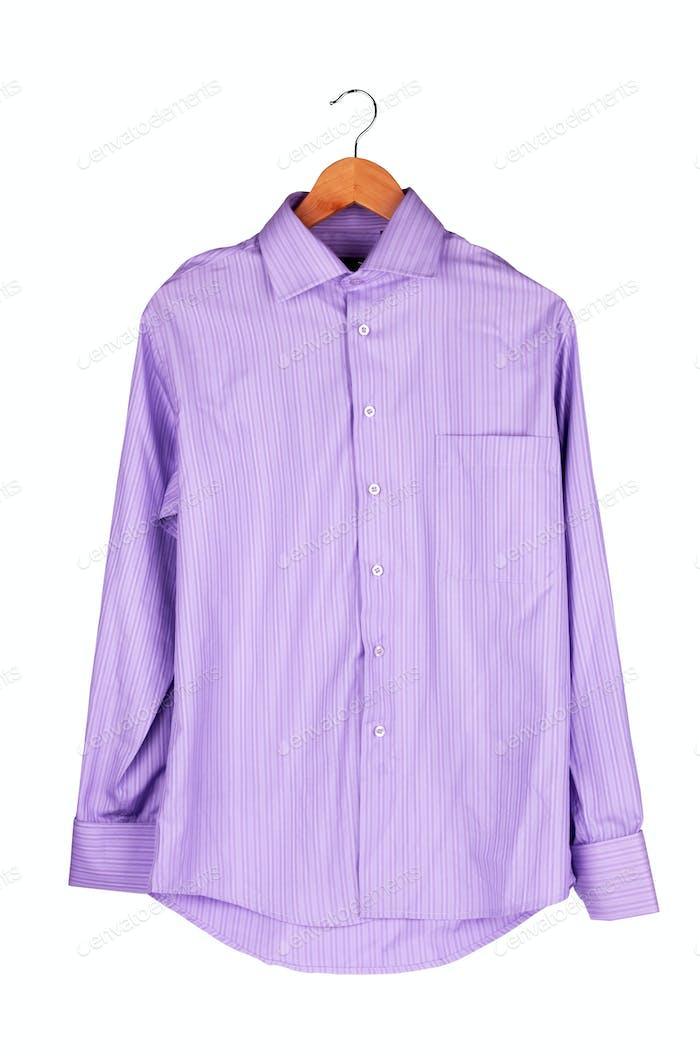 shirt on wooden hange