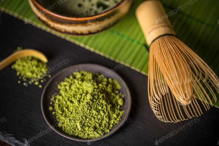 Matcha, powder green tea