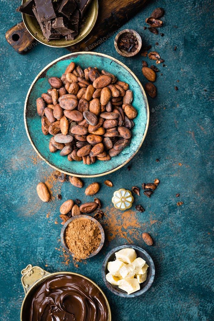 Cocoa. Cocoa beans