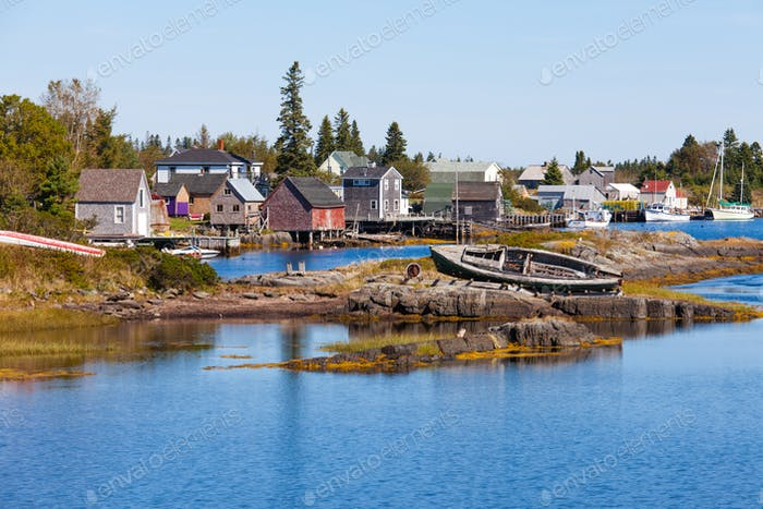 Fishing village of Blue Rock Nova Scotia NS Canada
