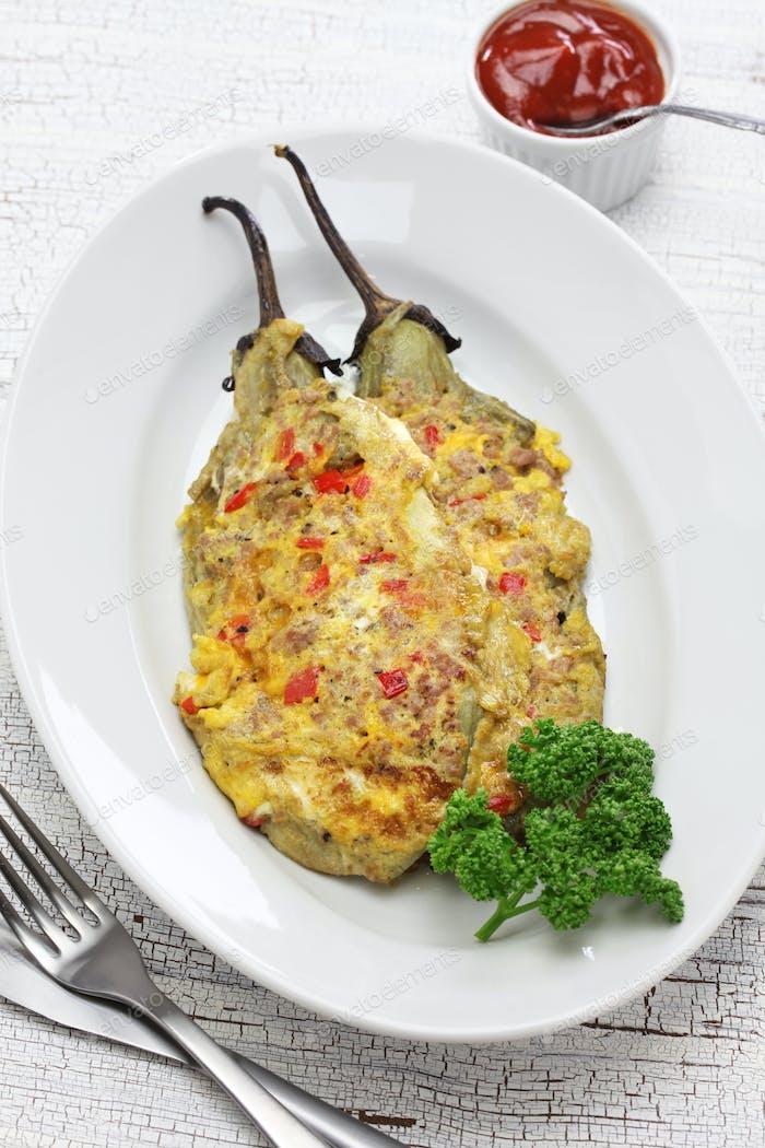 tortang talong, eggplant omelet, filipino food