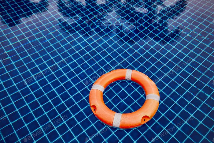 Lifebuoy in the swimming pool