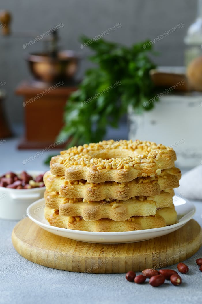 Shortbread Cookie with Peanuts