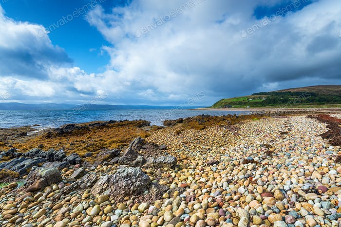 Machrie Bay on the Isle of Arran in Scotland