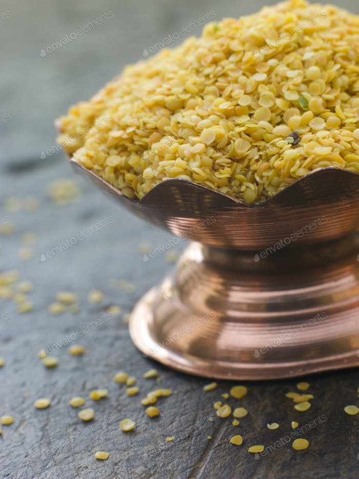 Dish of Yellow Mustard Seeds