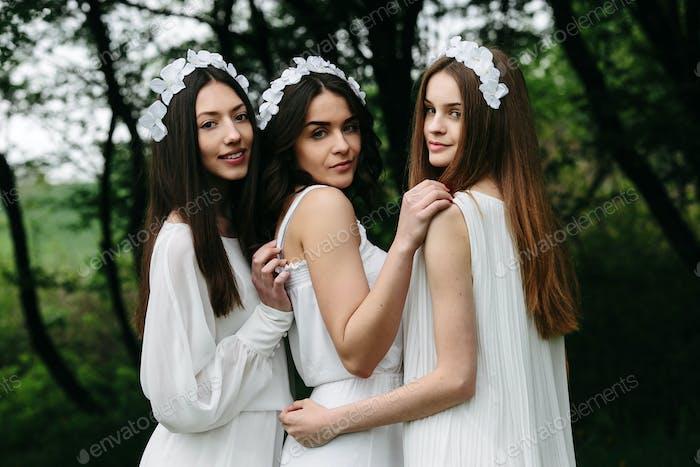 three beautiful girls