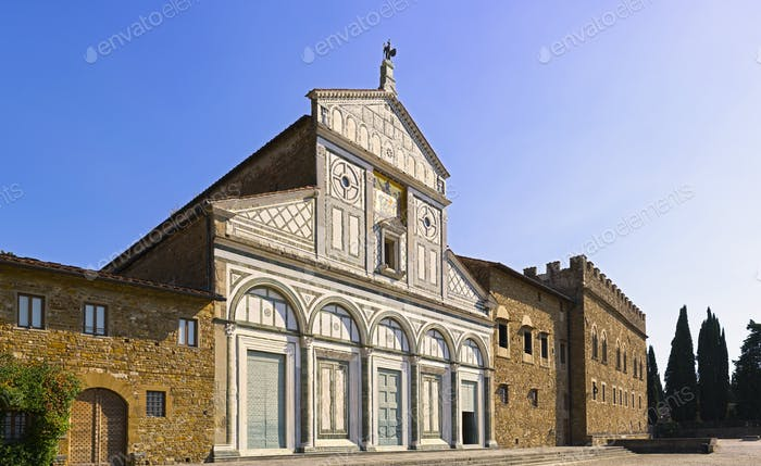 Basilica San Miniato al Monte in Florence or Firenze, church in