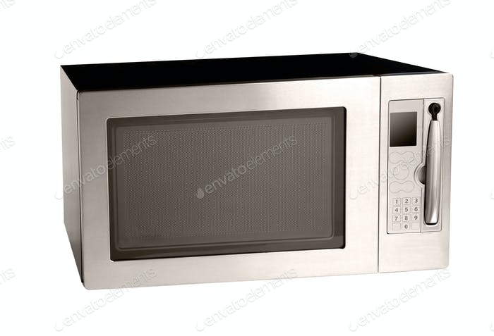 microwave oven oven shot over white