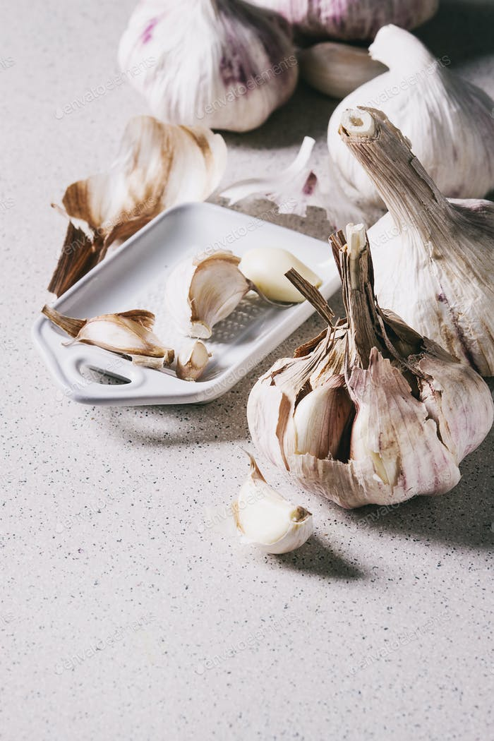 Group of garlic