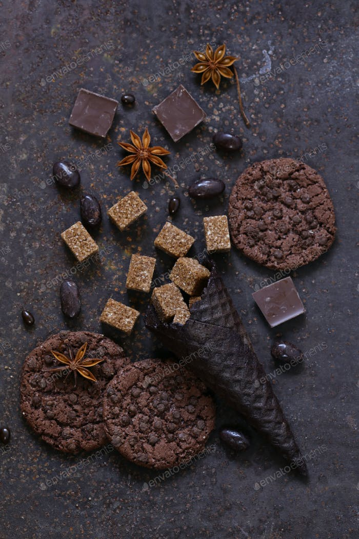 Chocolate Cookies and Candy