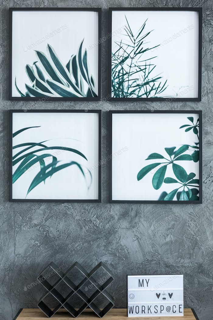 Paintings with leaves