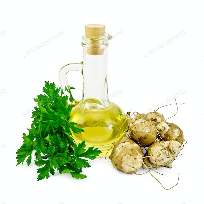 Jerusalem artichokes with oil and parsley