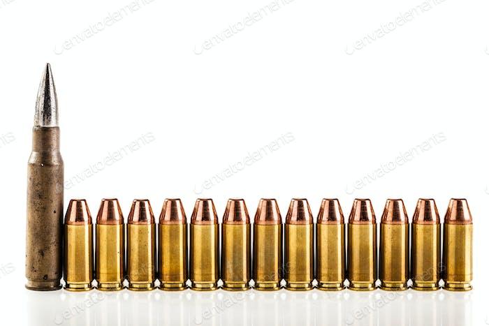 Line of bullets