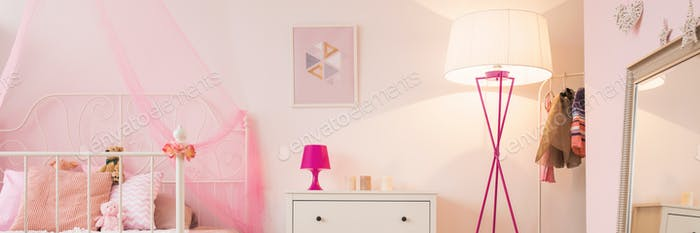 Girl's bedroom interior