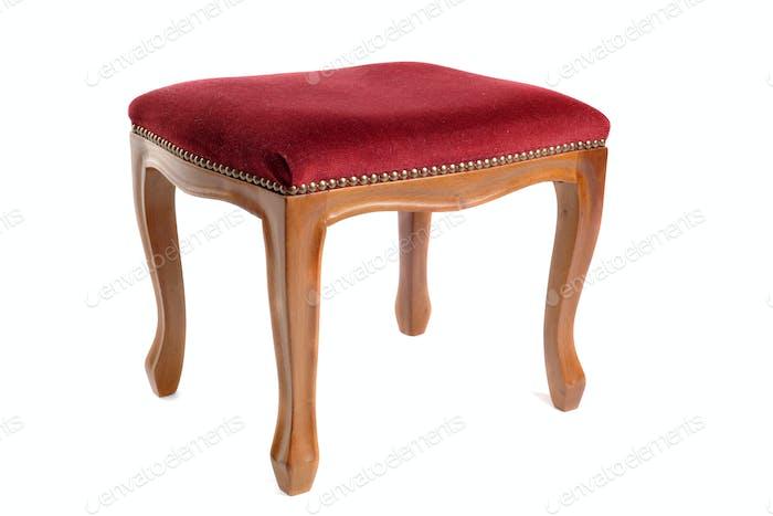 stool in velvet