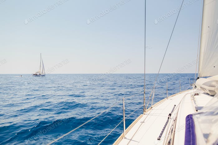 yacht open sea view